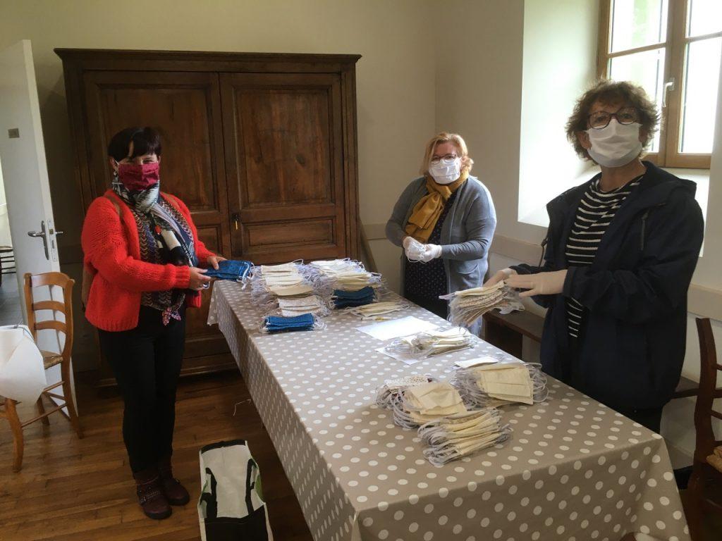 Le retour des masques confectionnés a permis de récupérer 1700 unités en une semaine.